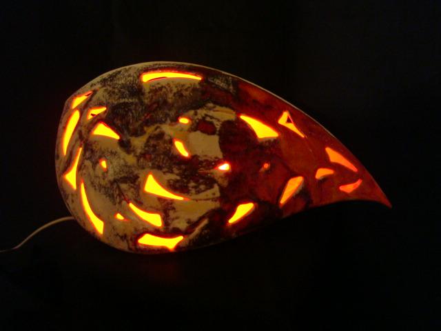 Porzellan-Lampe