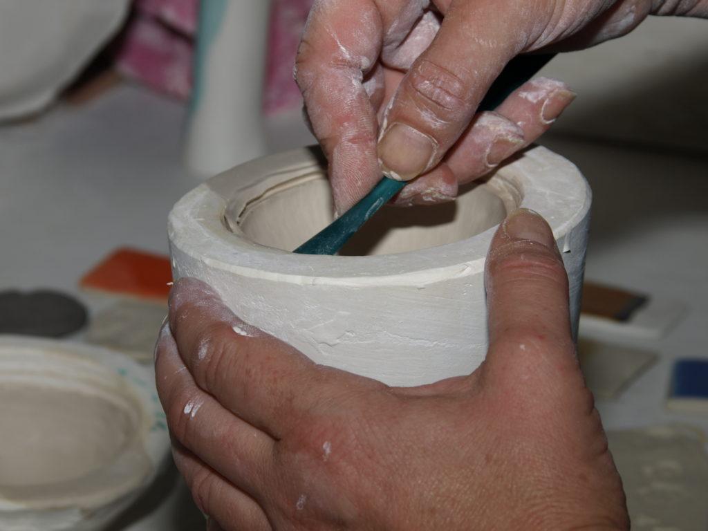 Arbeit mit Porzellan